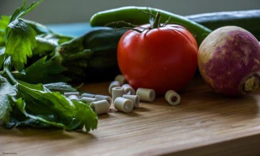 Perles de céramiques aux micro-organisme pour les aliments