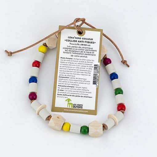 Collier anti parasite avec perles de céramique EM
