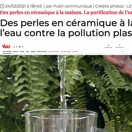 La purification de l'eau contre la pollution plastique